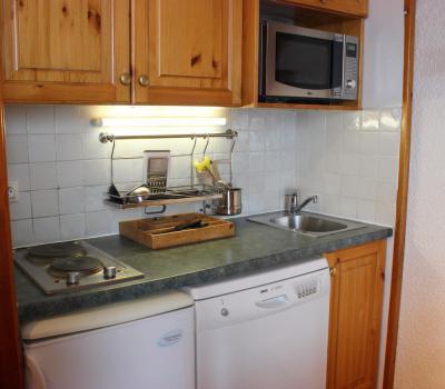 Location au ski Appartement 2 pièces 4 personnes (18) - Résidence l'Orsière - Val Thorens - Cuisine