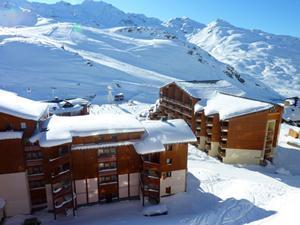 Location au ski Studio cabine 4 personnes (13) - Residence Le Joker - Val Thorens - Extérieur hiver