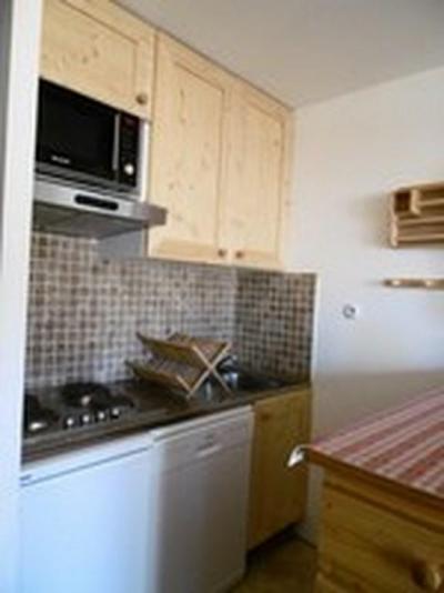 Location au ski Studio 4 personnes (02) - Residence Le Roc De Peclet 1 - Val Thorens - Kitchenette