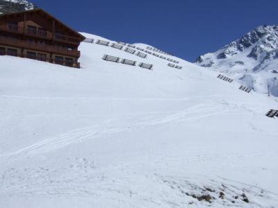 Location au ski Studio cabine 4 personnes (J4) - Residence Le Serac - Val Thorens - Extérieur hiver