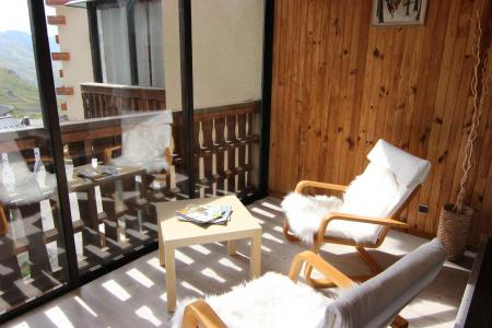Location au ski Studio cabine 4 personnes (L4) - Residence Le Serac - Val Thorens - Véranda