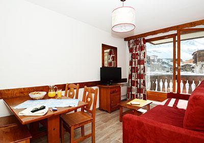 Location au ski Residence Le Valset - Val Thorens - Coin repas