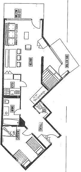 Location au ski Appartement 3 pièces 5 personnes (2) - Residence Les Hauts De Chaviere - Val Thorens - Plan