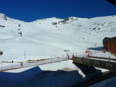 Location au ski Studio 2 personnes (156) - Residence Roche Blanche - Val Thorens - Extérieur hiver