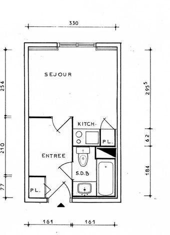 Location au ski Studio 2 personnes (140) - Residence Roche Blanche - Val Thorens - Plan