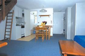 Location au ski Studio mezzanine 5 personnes - Residence Silveralp - Val Thorens - Coin séjour