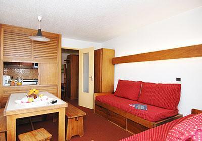 Location au ski Residence Tourotel - Val Thorens - Banquette-lit