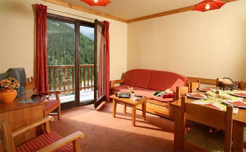 Location au ski Appartement 2 pièces cabine 6 personnes (BBT) - Les Chalets Du Thabor - Valfréjus - Séjour