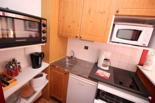 Location au ski Studio cabine 4 personnes (24) - Residence Chaviere - Valfréjus - Kitchenette