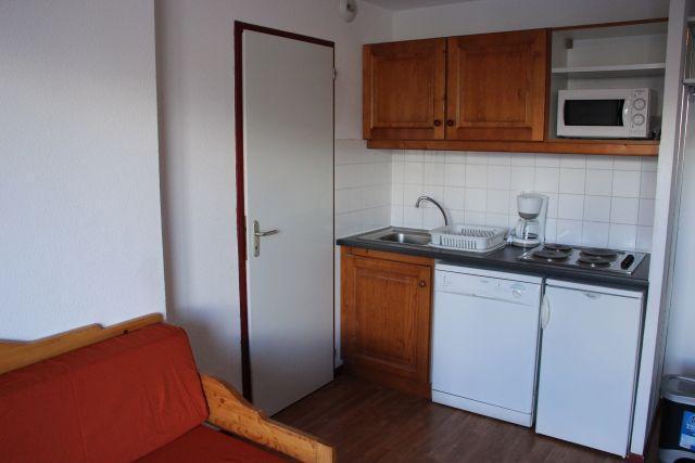 Location au ski Studio cabine 4 personnes (15) - Residence Du Cheval Blanc - Valfréjus - Cuisine