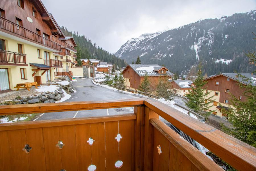Аренда на лыжном курорте Апартаменты 2 комнат кабин 6 чел. (H22) - Chalet d'Arrondaz - Valfréjus - Балкон