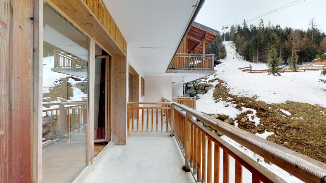 Rent in ski resort 2 room apartment 4 people - Les Chalets de Florence - Valfréjus - Balcony