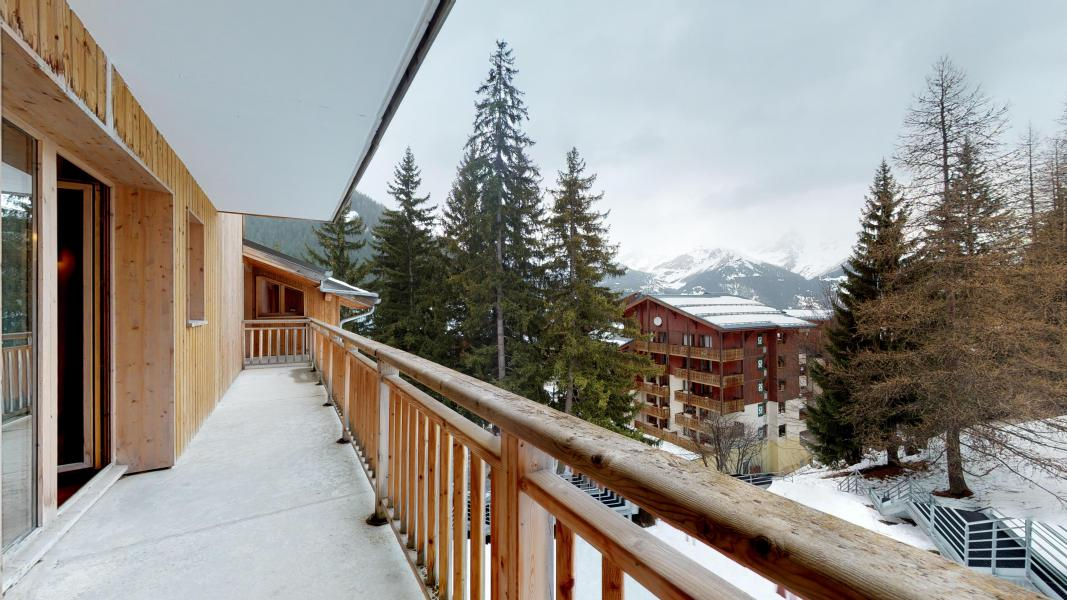 Rent in ski resort 2 room apartment cabin 6 people - Les Chalets de Florence - Valfréjus - Balcony