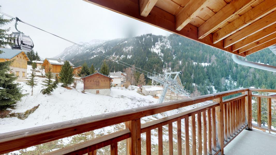Location au ski Studio cabine 4 personnes - Les Chalets de Florence - Valfréjus - Balcon