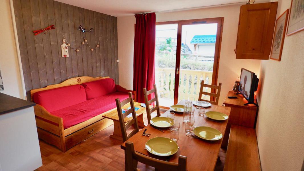 Аренда на лыжном курорте Апартаменты 3 комнат 6 чел. (44) - Résidence Cheval Blanc - Valfréjus - Салон