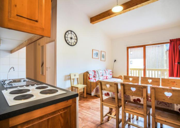 Аренда на лыжном курорте Апартаменты 3 комнат 7 чел. (72) - Résidence Cheval Blanc - Valfréjus - Кухня