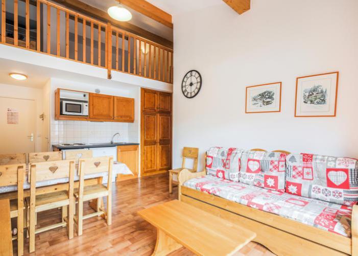 Аренда на лыжном курорте Апартаменты 3 комнат 7 чел. (72) - Résidence Cheval Blanc - Valfréjus - Салон