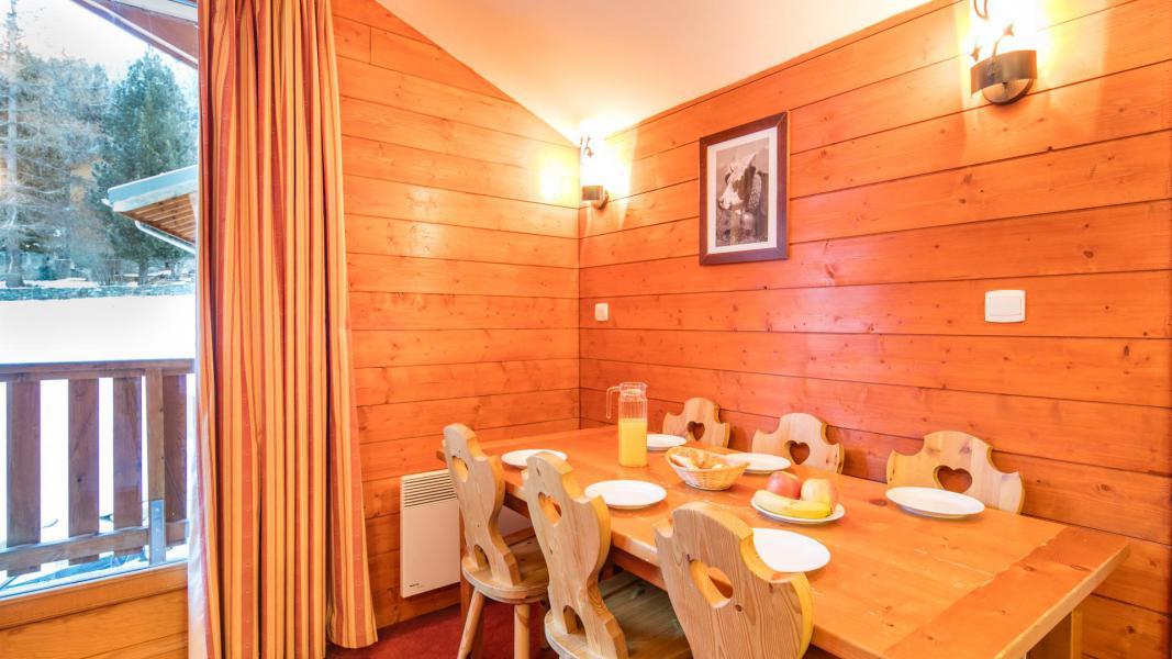 Location au ski Résidence les Chalets de la Ramoure - Valfréjus - Salle à manger