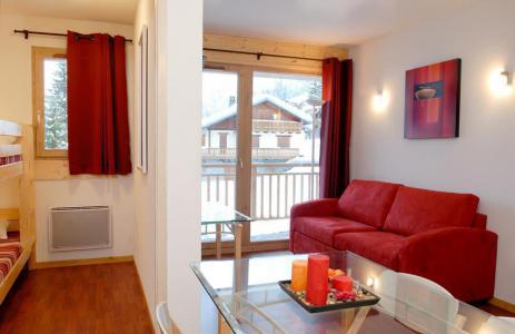 Rent in ski resort Les Chalets de Florence - Valfréjus - Living room
