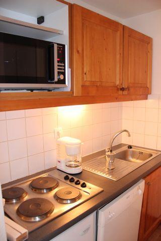 Location au ski Appartement 2 pièces 6 personnes (49) - Residence Du Cheval Blanc - Valfréjus - Kitchenette