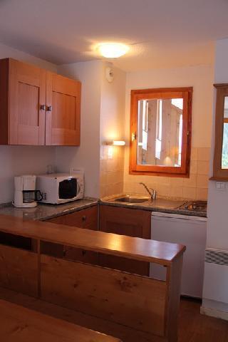 Location au ski Appartement 3 pièces cabine 8 personnes (12) - Residence Le Belvedere Busseroles - Valfréjus - Cuisine ouverte