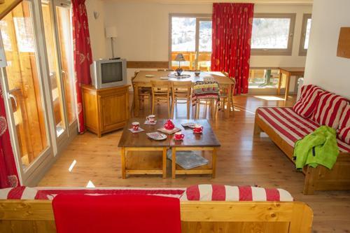 Location au ski Appartement 2 pièces coin montagne 6 personnes - Residence Le Hameau De Valloire - Valloire - Séjour