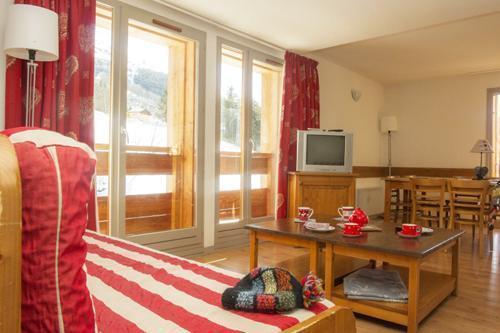 Location au ski Appartement duplex 3 pièces 6 personnes - Residence Le Hameau De Valloire - Valloire - Séjour