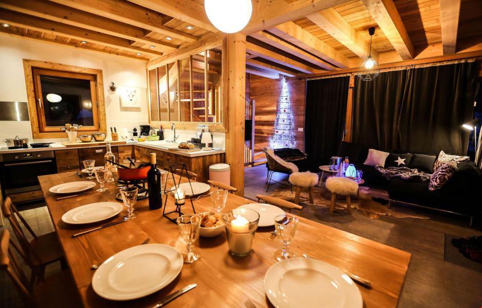 Аренда на лыжном курорте Chalet le Pure Altitude - Valloire - Столова&