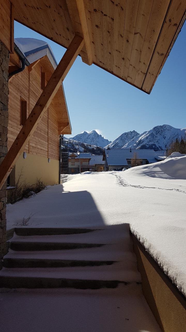 Wakacje w górach Chalet les Balcons de Pierre Pomme - Valloire - Zima na zewnątrz