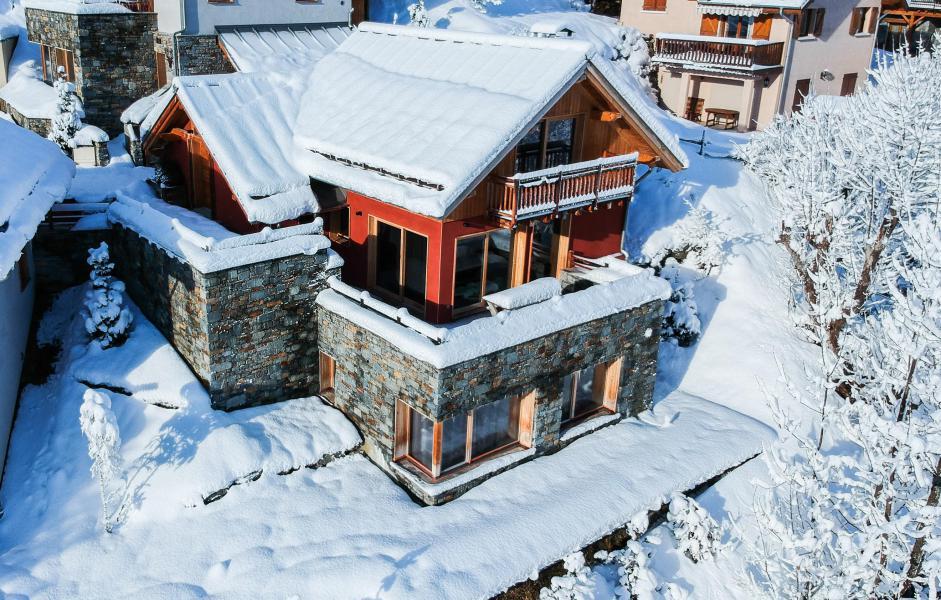 Rent in ski resort Chalet les Clots - Valloire - Winter outside