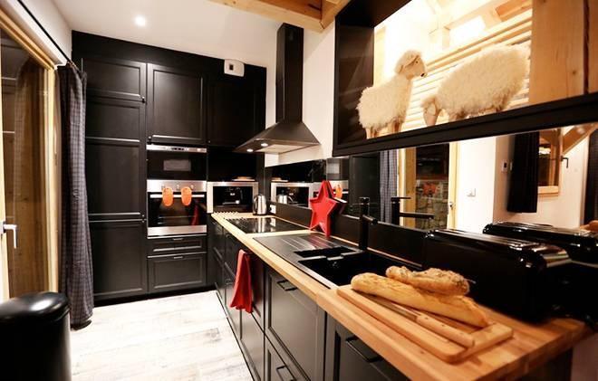 Rent in ski resort Chalet les Clots - Valloire - Kitchen