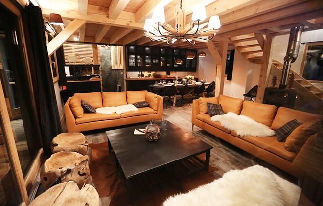 Rent in ski resort Chalet les Clots - Valloire - Living room
