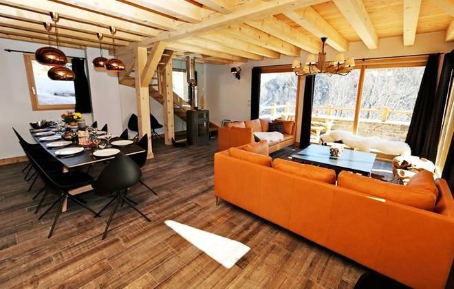 Location au ski Chalet les Clots - Valloire - Séjour