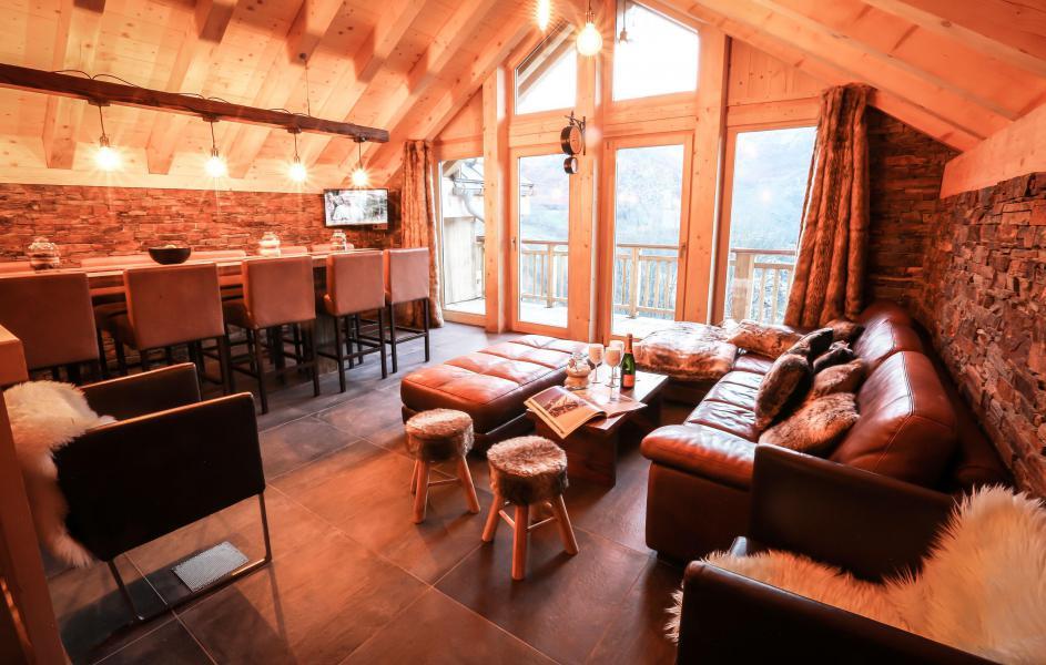 Rent in ski resort Chalet Les Lions Blancs - Valloire - Living room