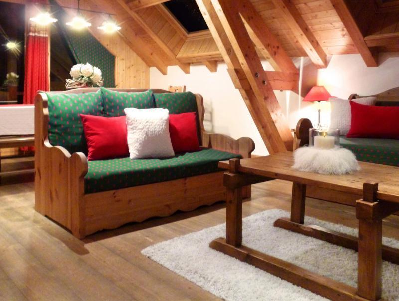 Аренда на лыжном курорте Апартаменты триплекс 6 комнат 12 чел. (3) - Les Fermes du Planet - Valloire - Сиденье банкетка