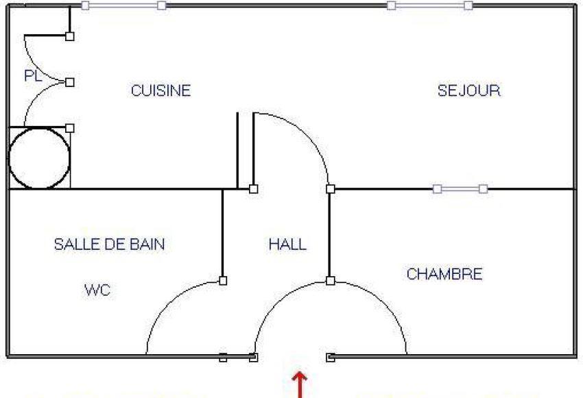 Location au ski Studio cabine 5 personnes (18) - Résidence Bon Accueil - Valloire - Plan