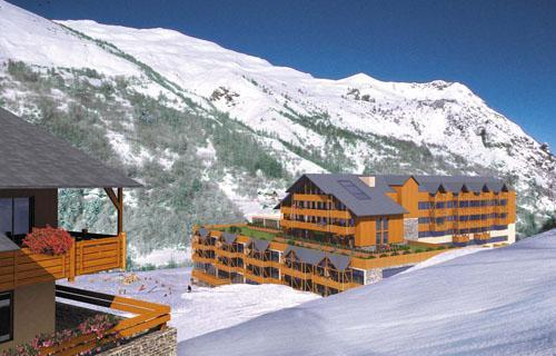 Аренда на лыжном курорте RESIDENCE LE HAMEAU DE VALLOIRE - Valloire - зимой под открытым небом
