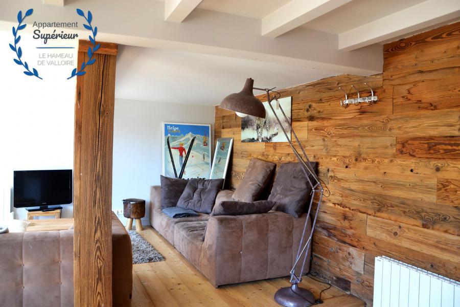 Rent in ski resort 4 room apartment 7 people (superior) - Résidence le Hameau de Valloire - Valloire - Living room