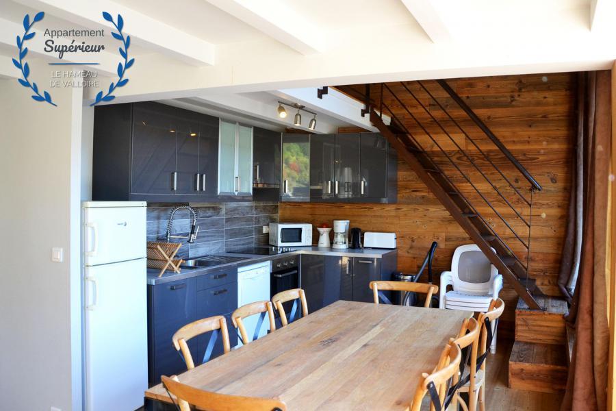 Location au ski Appartement 4 pièces 7 personnes (supérieur) - Résidence le Hameau de Valloire - Valloire - Cuisine