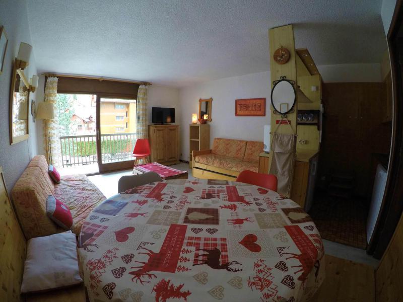 Аренда на лыжном курорте Квартира студия кабина для 4 чел. (13) - Résidence le Praz - Valloire