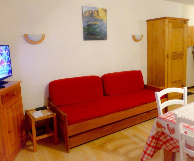 Аренда на лыжном курорте Квартира студия со спальней для 4 чел. (D4) - Résidence Plan Soleil - Valloire - Салон