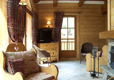 Location au ski Chalet Alpen Roc - Valloire - Coin séjour
