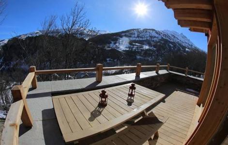 Аренда на лыжном курорте Chalet les Clots - Valloire - зимой под открытым небом