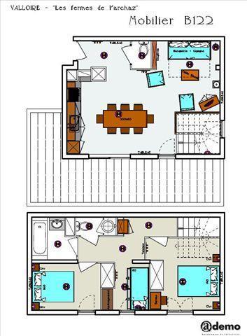Location au ski Appartement 3 pièces 6 personnes (B122) - Les Fermes De L'archaz - Valloire