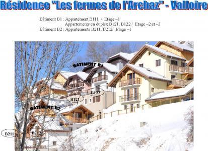 Location au ski Appartement 3 pièces 6 personnes (211) - Les Fermes De L'archaz - Valloire - Extérieur hiver