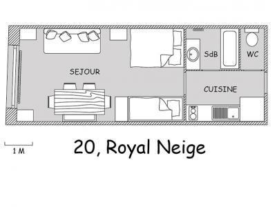 Location au ski Studio 4 personnes (20) - Residence Royal Neige - Valloire