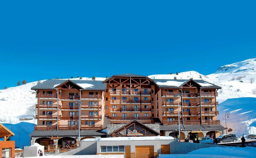 Location au ski Résidence l'Ours Blanc - Valmeinier - Extérieur hiver