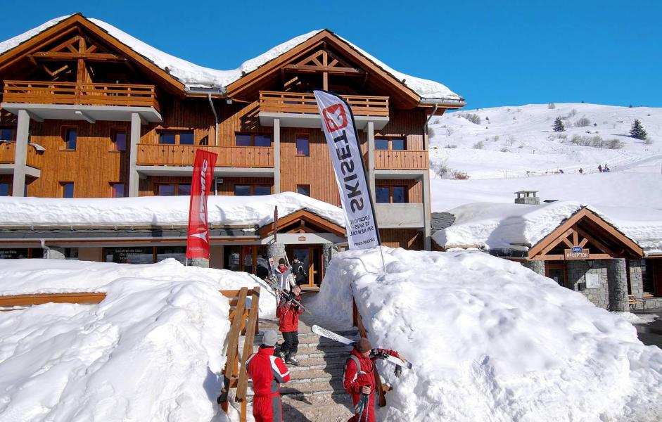 Location au ski Residence Le Grand Panorama 1 - Valmeinier - Extérieur hiver