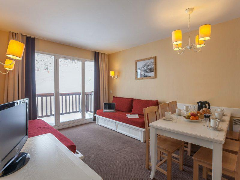 Аренда на лыжном курорте Апартаменты 2 комнат  5-7 чел. - Résidence Pierre & Vacances le Thabor - Valmeinier