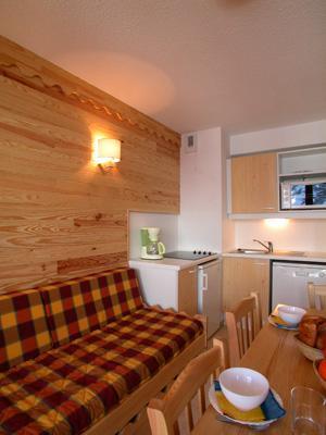 Location au ski Appartement 2 pièces cabine 5-6 personnes - Residence L'ecrin Des Neiges - Valmeinier - Kitchenette